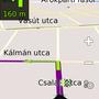 Kellően kontrasztos, az utcanevek is jól látszódnak (Be-On-Road)